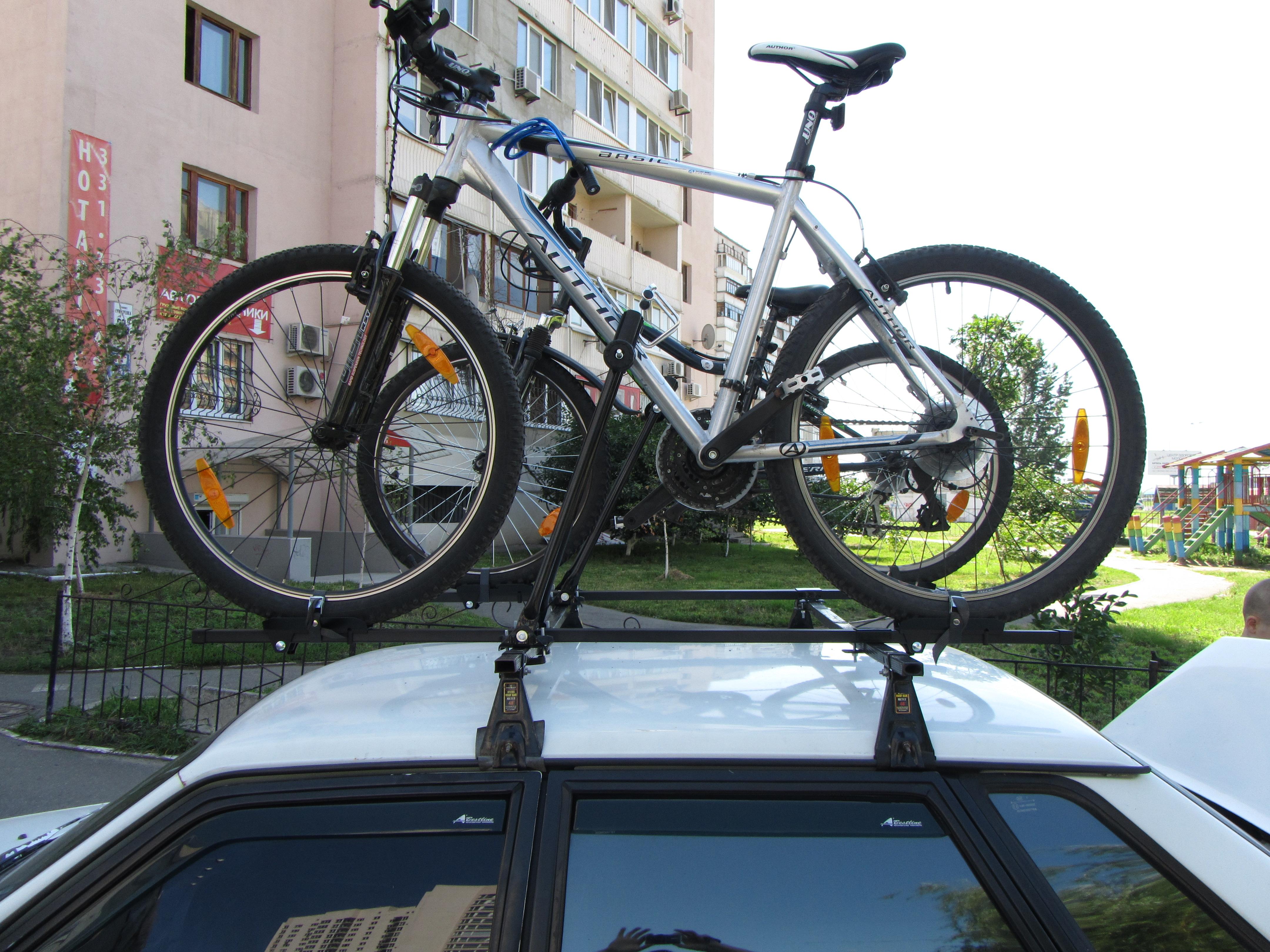 Автобагажник для велосипеда на крышу своими руками