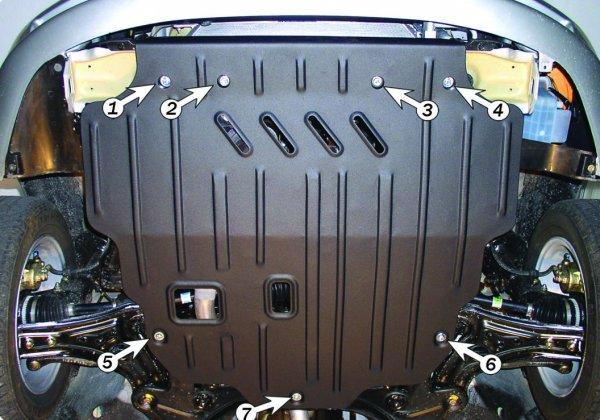 Защита картера Chevrolet Aveo (Шевроле Авео)