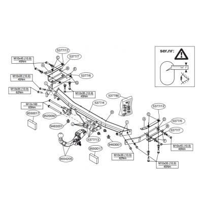 Фаркоп на Nissan Juke 537700