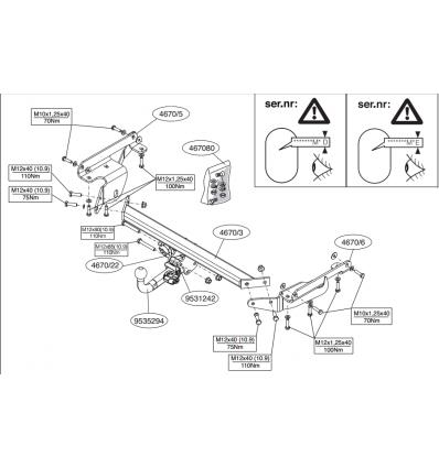 Фаркоп на Nissan Murano 467000