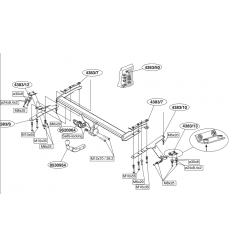 Фаркоп на Toyota Avensis 438300