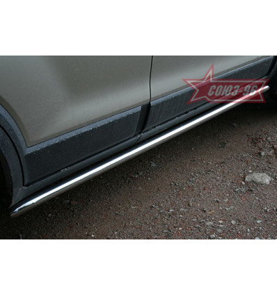 Пороги труба на Chevrolet Captiva CCAP.80.0491