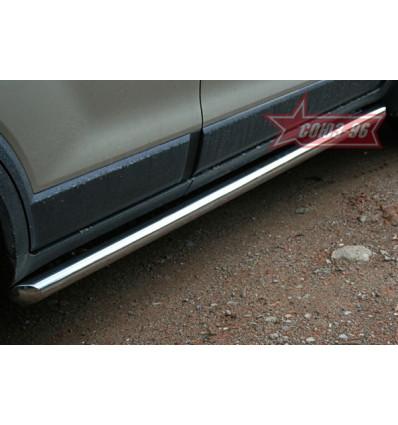 Пороги труба на Chevrolet Captiva CCAP.80.0490
