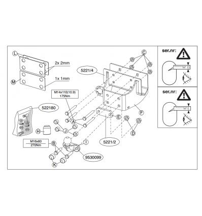 Фаркоп на Toyota Hilux N26 522100