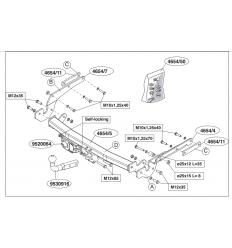 Фаркоп на Toyota Yaris 465400