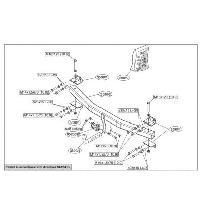 Фаркоп на Volkswagen Touareg 359000
