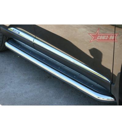 Пороги с нержавеющим листом на Lexus RX III 350/450H LXRX.82.1100