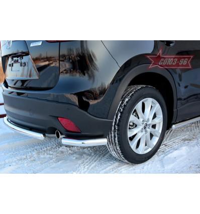 """Защита задняя """"уголки""""  на Mazda CX-5 MCX5.76.1427"""