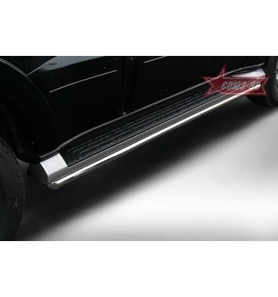 Защита штатных порогов на Mitsubishi Pajero IV MIPJ.86.0405