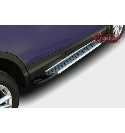 Пороги алюминиевый профиль на Nissan Qashqai NQSH.83.5078