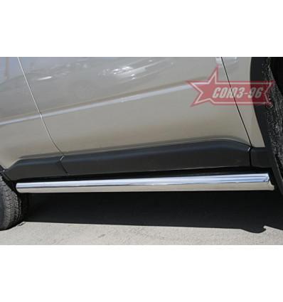Пороги труба на Nissan X-Trail NXTR.80.0501