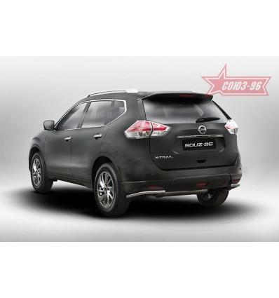 """Защита задняя """"уголки"""" на Nissan X-Trail NXTR.76.5275"""