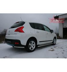 """Защита задняя """"уголки"""" на Peugeot 3008 PG08.76.0890"""