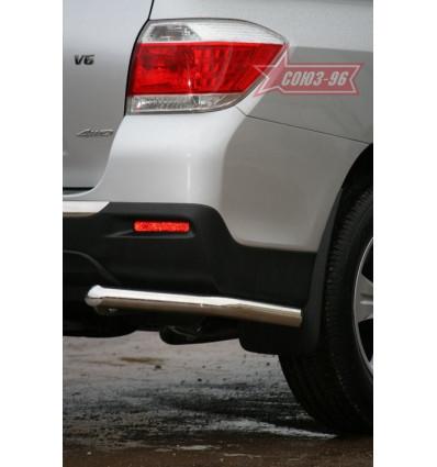 "Защита задняя ""уголки"" на Toyota Highlander TOHR.76.0958"