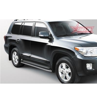 Защита штатного порога на Toyota Land Cruiser 200 LX57.86.1481