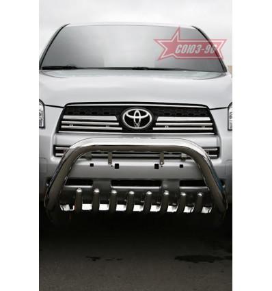 Решетка передняя мини на Toyota Rav 4 TRAV.57.0867