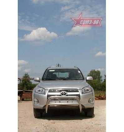 Решетка передняя мини труба на Toyota Rav 4 TRAV.56.0879