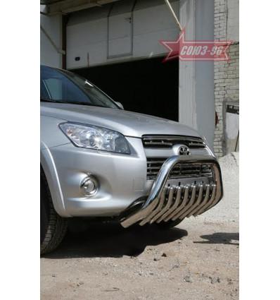 Решетка передняя мини труба на Toyota Rav 4 TRAV.57.0882