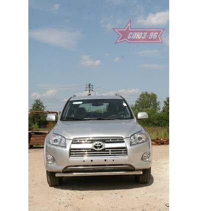 Защита переднего бампера труба на Toyota Rav 4 TRAV.48.0876