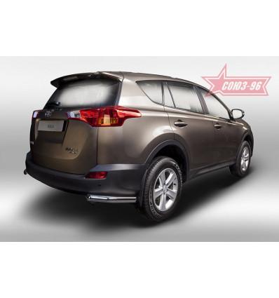 "Защита задняя ""уголки"" на Toyota Rav 4 TRAV.76.1712"