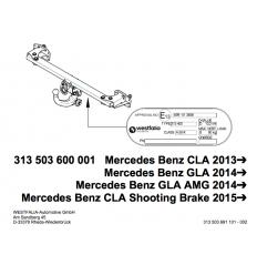 Фаркоп на Mercedes CLA 313503600001
