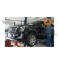 Защита переднего бампера  Cadillac Escalade CAES.33.3347