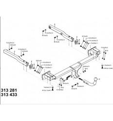 Фаркоп на Mercedes GLK X204 313433600001