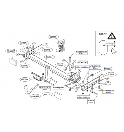 Фаркоп на Subaru Forester 502900