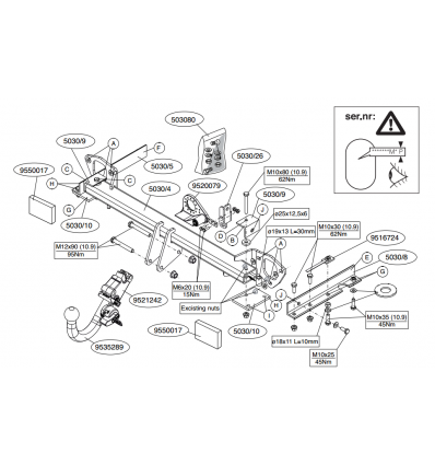 Фаркоп на Subaru Forester 503000