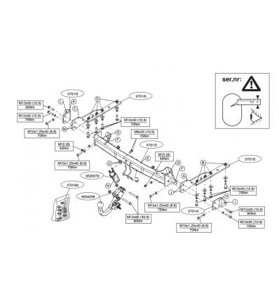 Фаркоп на Subaru Forester 570100