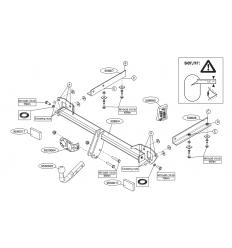 Фаркоп на Subaru Impreza 508600