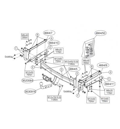 Фаркоп на Subaru Legacy  466400