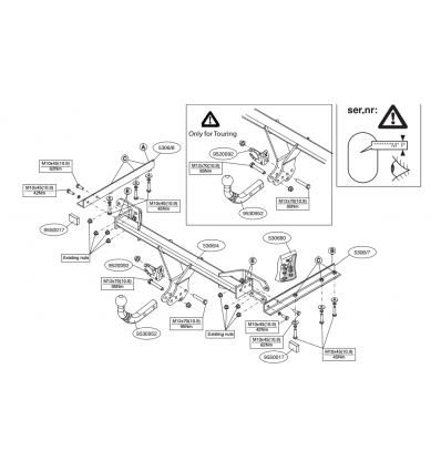 Фаркоп на Subaru Legacy 530600