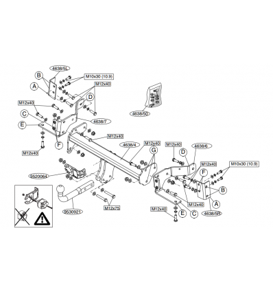 Фаркоп на Opel Antara 463800