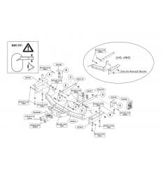 Фаркоп на Renault Master 532400