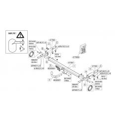 Фаркоп на Peugeot 308 417800