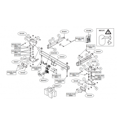 Фаркоп на Mercedes ML W166 554200