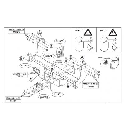 Фаркоп на Mercedes Sprinter 5T  511400