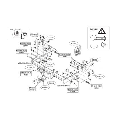 Фаркоп на Volkswagen Crafter 511200