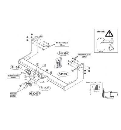 Фаркоп на Volkswagen Crafter 511300