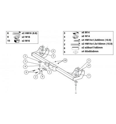 Фаркоп на Fiat Ducato 3 400300