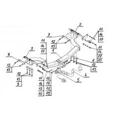 Фаркоп на Nissan X-Trail N-102
