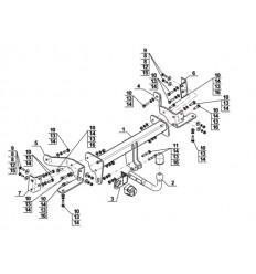 Фаркоп на Opel Antara O-093