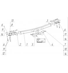 Фаркоп на Ford Explorer 3987A