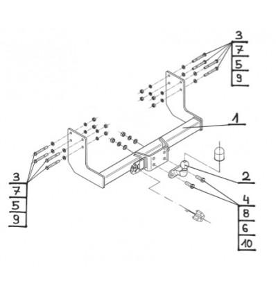 Фаркоп на Mercedes Sprinter V-032