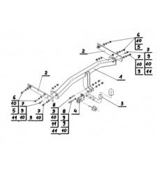 Фаркоп на Audi Q3 V-127