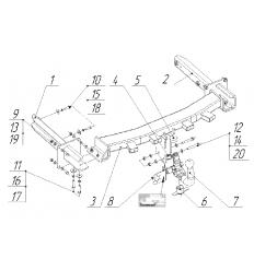 Фаркоп на Mercedes ML 2255AK41