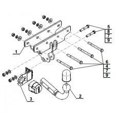 Фаркоп на Jeep Wrangler J-071