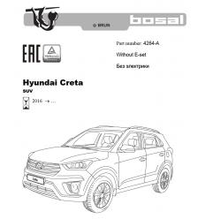 Фаркоп на Hyundai Creta 4264A