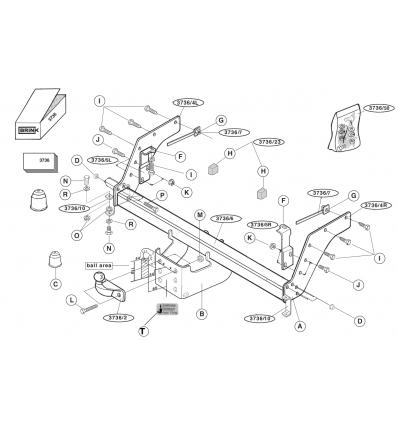 Фаркоп на Mazda B2500 373600
